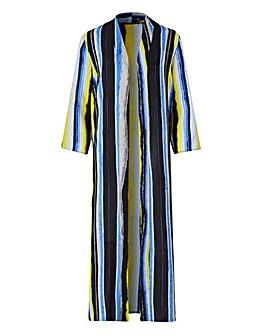 Petite Printed Longline Kimono