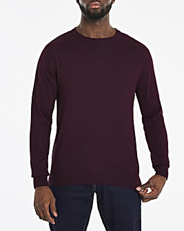 Purple Acrylic Crew Neck Jumper Long