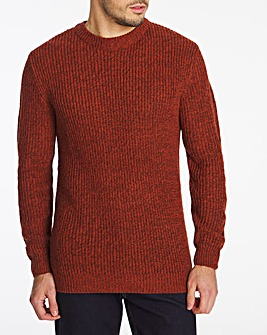 Red Crew Neck Jumper Long