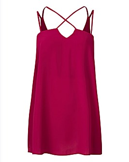 Magenta Cross Strappy Cami Top