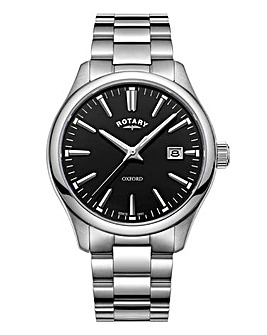 Rotary Gents Rhodium Bracelet Watch