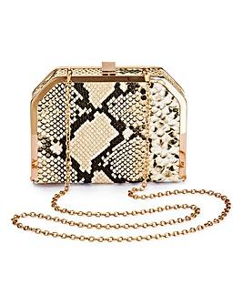 Glamorous Snakeskin Clutch Bag