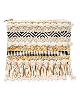 Glamorous Woven Straw Clutch Bag