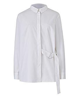 White D Ring Detail Shirt