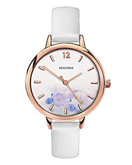 Sekonda White Floral Watch