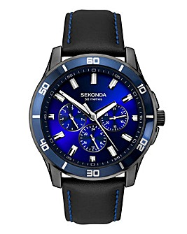 Sekonda Gents Black Strap Watch
