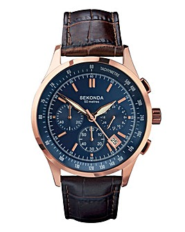 SEKONDA GENTS BLUE / GOLD WATCH