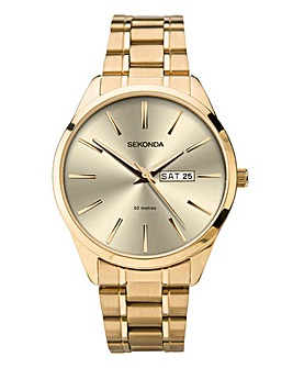 SEKONDA GENTS GOLD WATCH