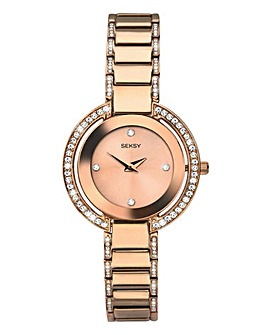 Seksy Rose-Gold Plated Ladies Watch