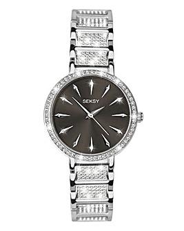 Seksy Stone Set Ladies Bracelet Watch