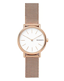 Skagen Ladies Rose Gold Mesh Watch