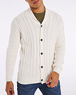Ecru Cable Knit Cardigan