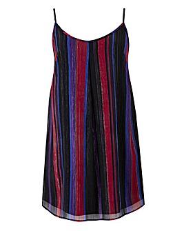 Multi Stripe Longline Lurex Camisole