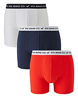 Voi Pack of 3 Red/White/Navy Hipsters