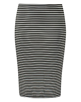 Stripe Stretch Jersey Mini Tube Skirt