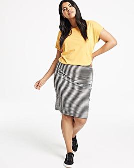 Stripe Stretch Jersey Mini Tube Skirt