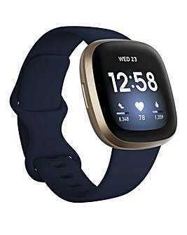 Fitbit Versa 3 - Midnight/Soft Gold