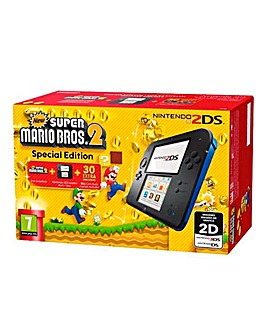 Nintendo 2DS Black & Blue Console