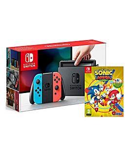 Nintendo Switch Neon Console Sonic Mania