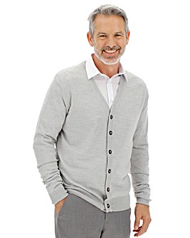 Light Grey Button Cardigan