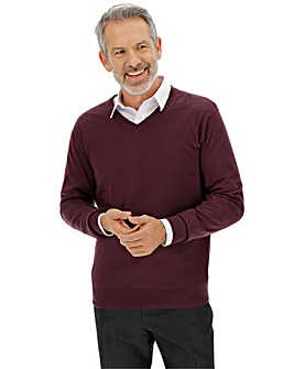 Mulberry V-Neck Jumper