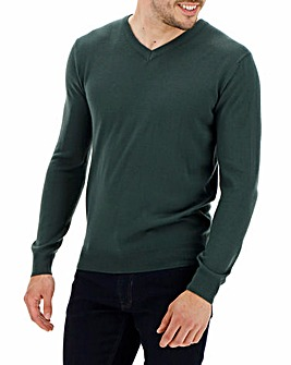 Khaki V-Neck Jumper