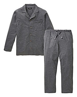 Charcoal Classic Long Pyjama Set