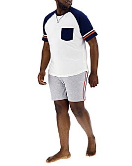 Retro Sports Stripe Short Pyjama Set