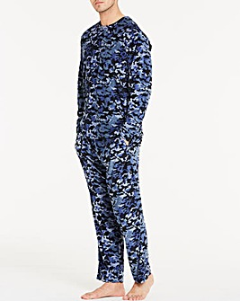 Blue Camo Fleece Pyjama Set