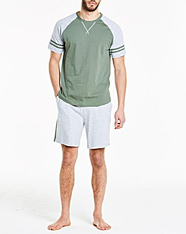 Khaki Short Pyjama Set