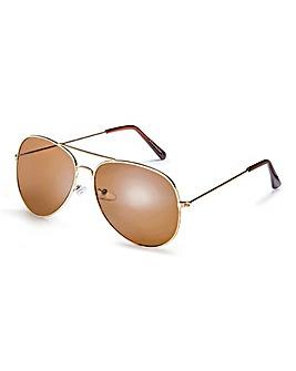 Squadron Gold Aviator Sunglasses