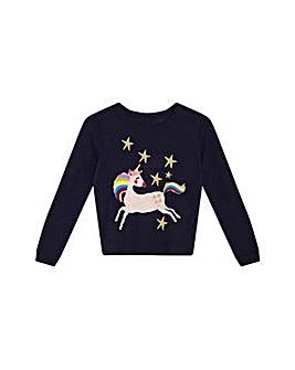 Yumi Girl Rainbow Unicorn Jumper