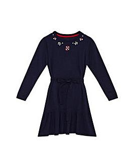 Yumi Girl Embellished Peplum Dress