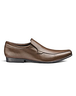 Leather Formal Slip On Shoes Extra Wide Fit