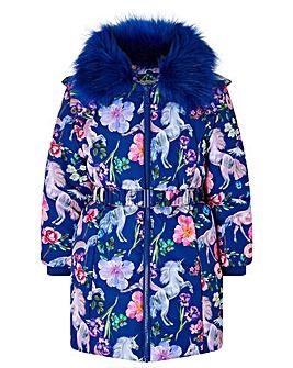 Monsoon Armelle Unicorn Padded Coat