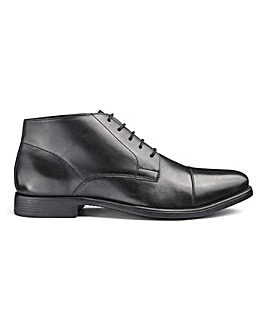 Leather Toe Cap Derby Boots Standard Fit