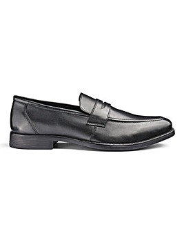 Leather Saddle Loafers Standard Fit