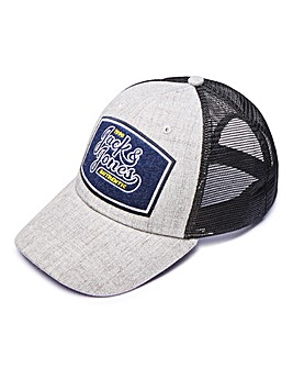Jack & Jones Grey Jachoya Trucker Cap