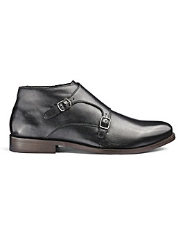 Flintoff By Jacamo Leather Monk Boots