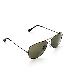 Jack & Jones Black Aviator Sunglasses