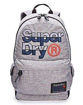 Superdry Grey Logo Montana Backpack