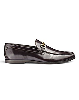 Premium Leather Snaffle Loafers Wide Fit