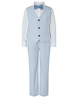 Monsoon Ollie Oxford Pale Blue 4Pc Set