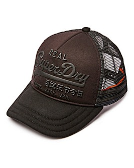 Superdry Black Trucker Cap