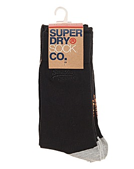 Superdry Black Pack of 4 Socks