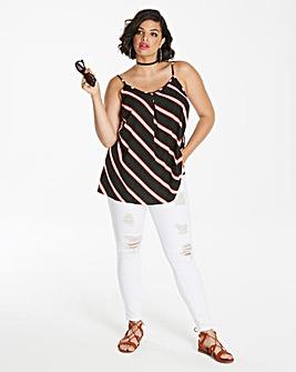 Multi Stripe Strappy Cami Top