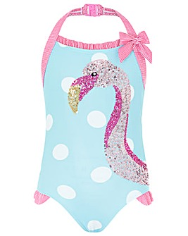 Monsoon Fee Flamingo Sequin Swimsuit