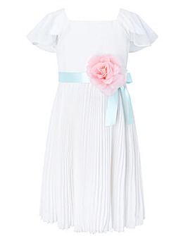 Monsoon S.E.W Ivory Lexis Pleat Dress