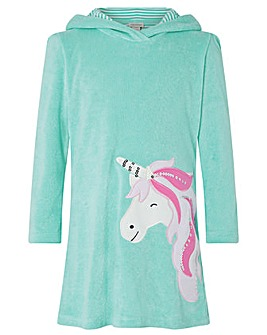 Monsoon Leila Unicorn Towelling Dress