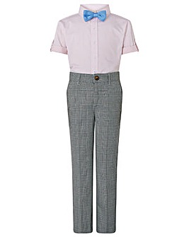 Monsoon Max Check 2Pc Set With Bow Tie